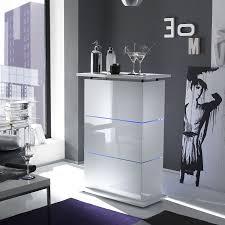 meuble bar blanc laqué design bar lumineux très tendance