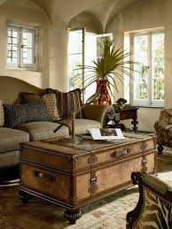 British Colonial As In When They Colonized The Tropics Living Room With Vintage Trunk