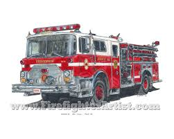 Fire Truck Drawings | FirefighterArtist.com: Original Firefighter ... How To Draw A Fire Truck Step By Youtube Stunning Coloring Fire Truck Images New Pages Youggestus Fire Truck Drawing Google Search Celebrate Pinterest Engine Clip Art Free Vector In Open Office Hand Drawing Of A Not Real Type Royalty Free Cliparts Cartoon Drawings To Draw Best Trucks Gallery Printable Sheet For Kids With Lego Firetruck On White Background Stock Illustration 248939920 Vector Marinka 188956072 18