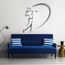 wand aufkleber golf vinyl aufkleber abnehmbare wohnzimmer schlafzimmer haus dekoration wand papier fenster sport decor poster diy ww 160