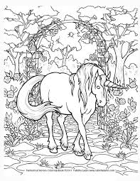 Difficult Unicorn Coloring Pages