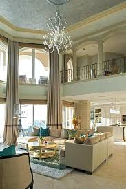 Chandeliers For High Ceilings Chandelier Ceiling Living Room Beach Style With Wrought