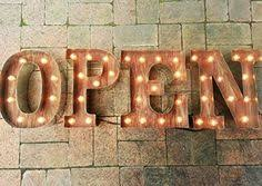 open sign custom business marquee light up by goldenspikesawdust