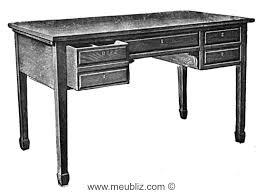 caisse de bureau bureau plat sheraton à caisse en bois massif meuble de style