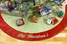 Personalized Christmas Tree Skirt Red And Green