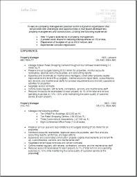 Property Maintenance Resume Example Management Shift Manager Event Examples