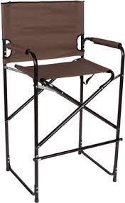 Aluminum Directors Chair Bar Height by Lightweight And Durable Aluminum Folding Tall Director U0027s Chair By