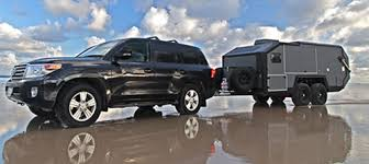 This Gives You An Idea About The Size Of Bruder EXP 6 Off Road Travel Trailer Compared To Towing Vehicle