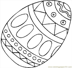 Easter Egg 09 Coloring Page