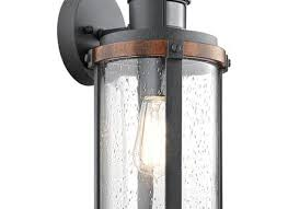 shop heath zenith 15375 in h black motion activated outdoor wall