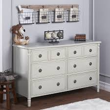 Baby Changing Dresser With Hutch by Amazon Com Evolur Julienne 6 Double Dresser Dove Grey Baby
