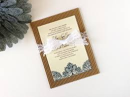 DIY Rustic Shabby Chic Lace Wedding Invitation