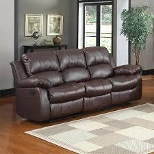 darrin leather reclining sofa with console black infosofa co