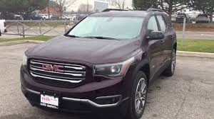 100 Acadia Truck 2018 GMC SLT All Terrain 7 Passenger Seating Cherry Black