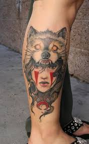 Jeff Norton Tattoos Feminine Wolf Headdress