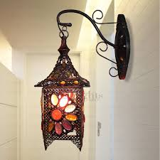 southeast asia style decorative wall sconce antique wrought iron