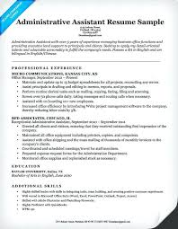 Resume Template Executive Assistant Administrative Example Luxury Examples For Of
