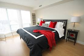 Business Condo Design To Go This Black White And Red Bedroom