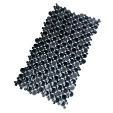Bathtub Mat No Suction Cups by Slipx Solutions 17 In X 30 In Burst Of Bubbles Bath Mat In Black