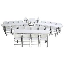 lifetime combo four 8 commercial grade nesting folding tables and