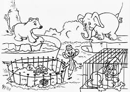 zoo coloring page zoo animal coloring photo gallery for