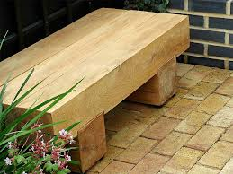 simple minimalist garden bench design with useful wooden beams to