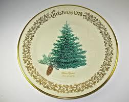 LENOX Christmas COLLECTORS PLATE Blue Spruce 1978 Commemorative 1075