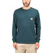 104 Carhart On Sale T Wip Commission Logo T Shirt Olive I028460 63 00 03