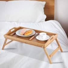 bambus klapp bett tisch mehrzweck frühstück laptop schreibtisch serviert ablett für schlafzimmer und wohnzimmer buy tabletts lebensmittel trays bett