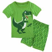 2 7Kids Boy Dinosaur Summer Pyjamas Enfant Shark Pajamas Fire Truck ...