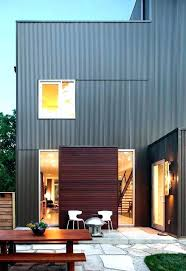 Modern Exterior Siding Wood Paneling Engineered Also Corrugated Metal Flat Roof