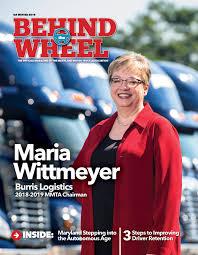 100 Maryland Motor Truck Association Behind The Wheel Q4 Winter 2018 Maria Wittmeyer Burris Logistics