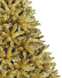 Artificial Christmas Tree Unlit by Toasted Champagne Gold Tinsel Artificial Christmas Tree Treetopia