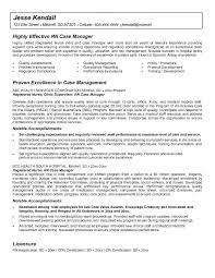 Case Worker Resume Sample For Manager With No Experience
