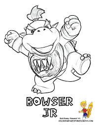 Bowser Jr Coloring At YesColoring