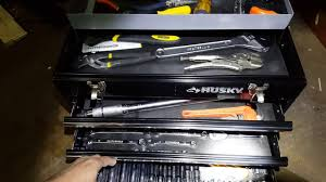 100 Husky Truck Tool Box Review Portable Tool Box 3 Drawers Full Of Tools Review Part 2 YouTube