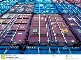 100 10 Wide Shipping Container Stacked S Editorial Photography Image Of Trade