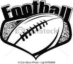American football shield with text Black and white vector clip