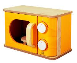 Plan Toys Microwave Organic Non Toxic Play Kitchen Wooden Toy