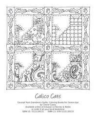 Coloring Pages Free Printable Calico Paisley Cats