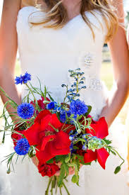 10 Red White Blue Wedding Bouquets