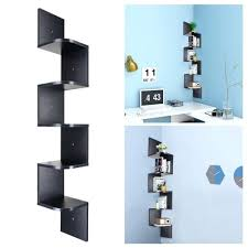 Corner Wood Shelf 2 3 5 Tiers Wall Floating Display Rack Home Furniture