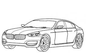 BMW CS Car Coloring Pages Printable