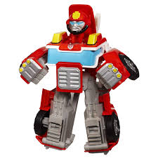 100 Rescue Bots Fire Truck Transformers Playskool Heroes Heatwave The Bot Figure