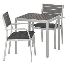 SJÄLLAND Table+2 Chairs W Armrests, Outdoor, Dark Grey, Hållö Black Alexia 5 Pcs Contemporary Set 4 Black Chairs And White Modern Table Inspire 5piece Greywhite Kids Table And Chair Set Garden Trading Rive Droite Bistro Chairs Shutter Blue Costway Piece Ding Wood Metal Kitchen Breakfast Fniture Black Rakutencom Black Table Chairs Dorel Living Devyn 3piece Faux Marble Pub Ikea In Camberwell Ldon Gumtree Brooklyn Oak Leather Bro103 Warmiehomy Glass 6 With 2375 Square Inoutdoor 2 Meco Sudden Comfort Deluxe Double Padded Back Card Courtyard Cosco Foldinhalf Folding