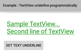 Text Decoration Underline More Space by How To Underline Textview Text Programmatically In Android