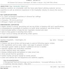 Bartending Resumes Examples Bartender Resume Template Templates With For Great