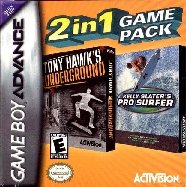Tony Hawk Underground & Kelly Slaters Pro Surfer Double Pack [Nintendo Game Boy Advance]