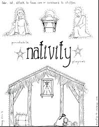 Nativity Story Coloring Pages Printable Free Print Colouring Book