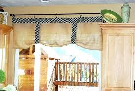 Burlap Kitchen Valance Curtains Wood Sack Ideas About